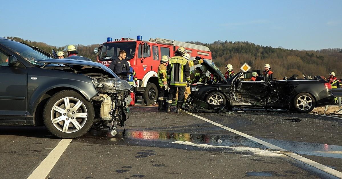 Unfall B299 Mühlhausen